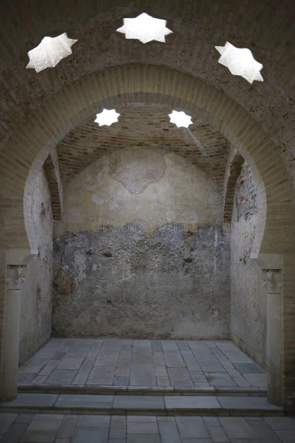 Banhos árabes da Espanha de Jae'n a Andaluzia foto de stock