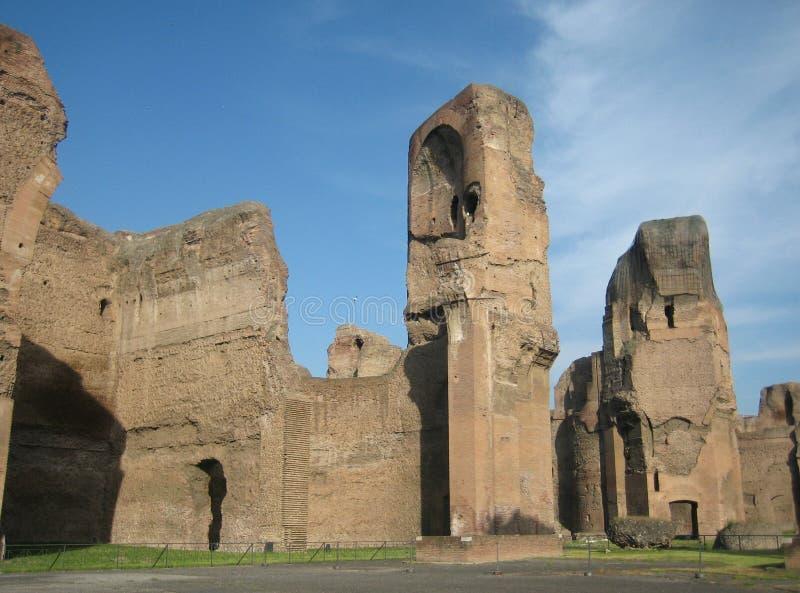 Banhos de Caracalla foto de stock