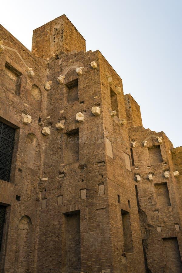 Banhos de Diocletian, o maior dos banhos públicos imperiais em Roma antiga fotografia de stock royalty free