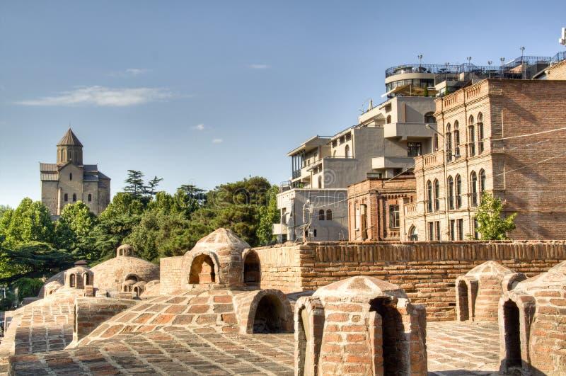 Banhos de Tbilisi foto de stock