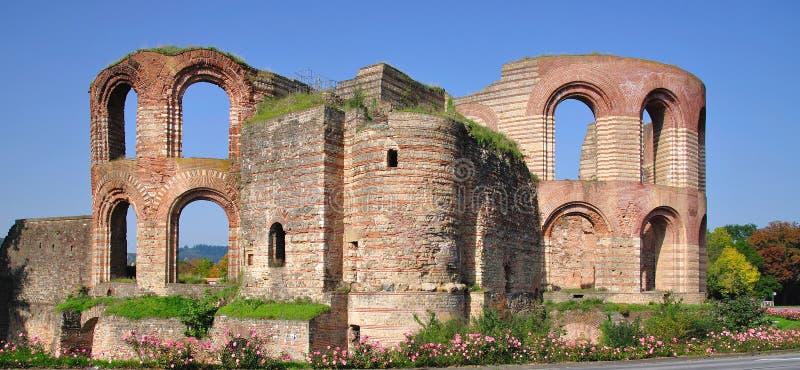 Banhos imperiais, Kaiserthermen, Trier, Alemanha foto de stock royalty free