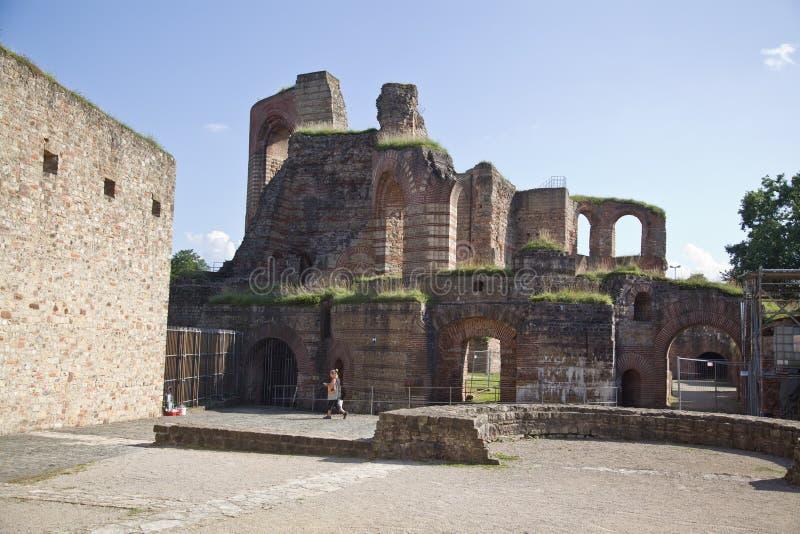 Banhos imperiais, Kaiserthermen, Trier, Alemanha imagens de stock royalty free