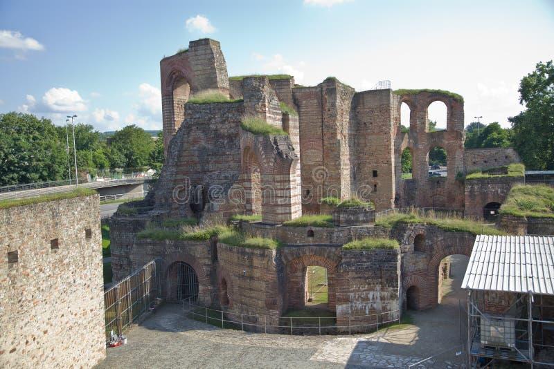 Banhos imperiais, Kaiserthermen, Trier, Alemanha foto de stock