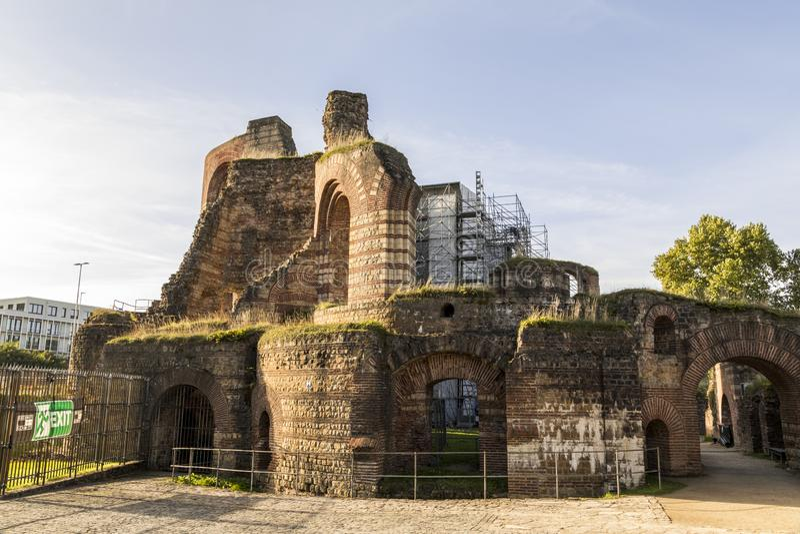 Banhos imperiais, Trier, Alemanha fotos de stock royalty free