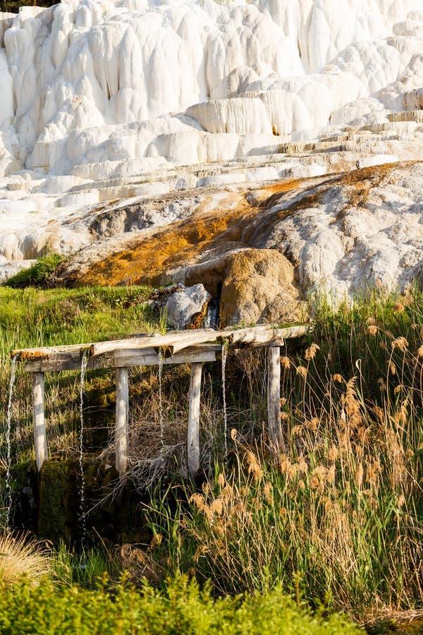 Banhos originais de um sal em Hungria Egerszalok fotografia de stock royalty free