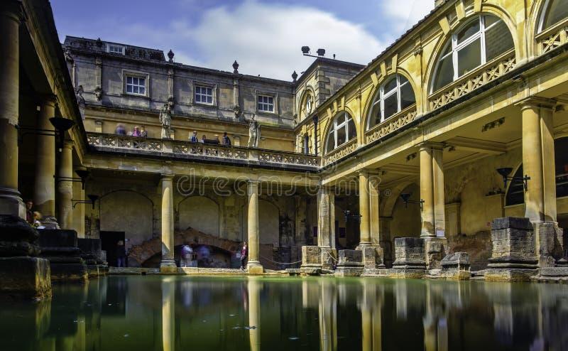 Banhos romanos, banho, Inglaterra fotografia de stock
