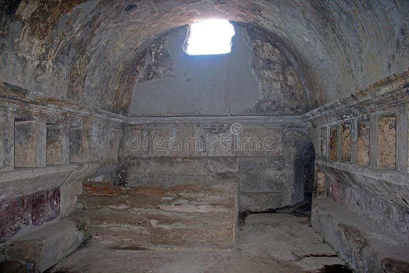 Banhos stabian de Pompeii imagem de stock