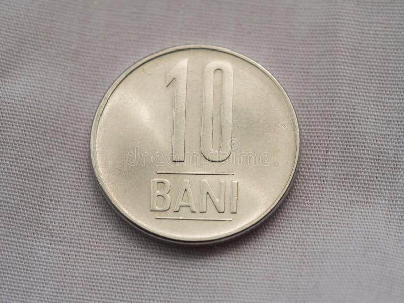 10 bani罗马尼亚人硬币 库存图片