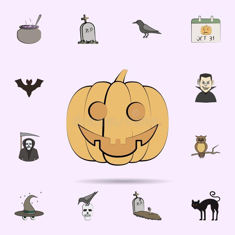 bani barwiona ikona Halloweenowy ikony og?lnoludzki ustawiaj?cy dla sieci i wisz?cej ozdoby royalty ilustracja