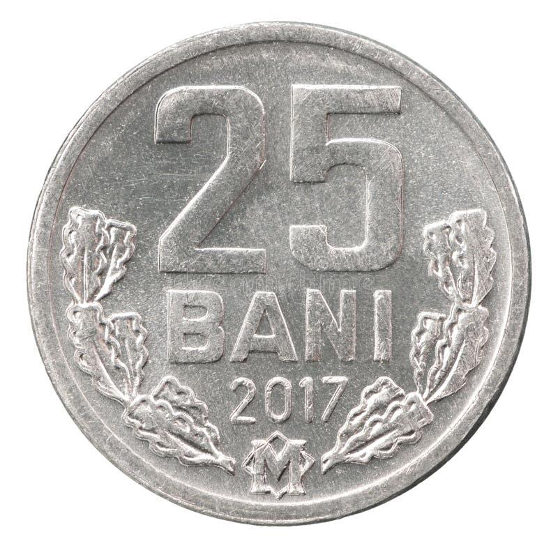 Bani del moldavo della moneta fotografia stock