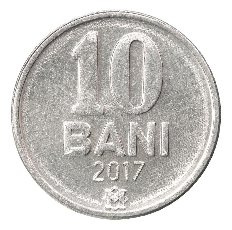 Bani del moldavo della moneta immagine stock libera da diritti