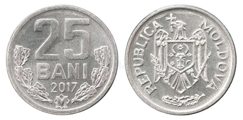 Bani del moldavo della moneta fotografia stock libera da diritti