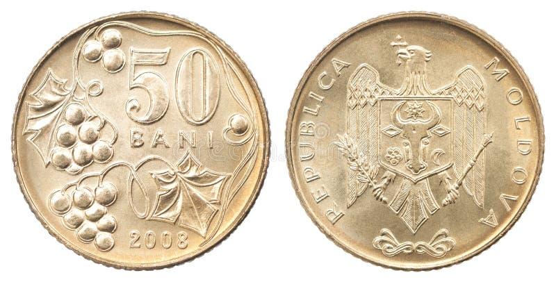 Bani del moldavo della moneta fotografie stock