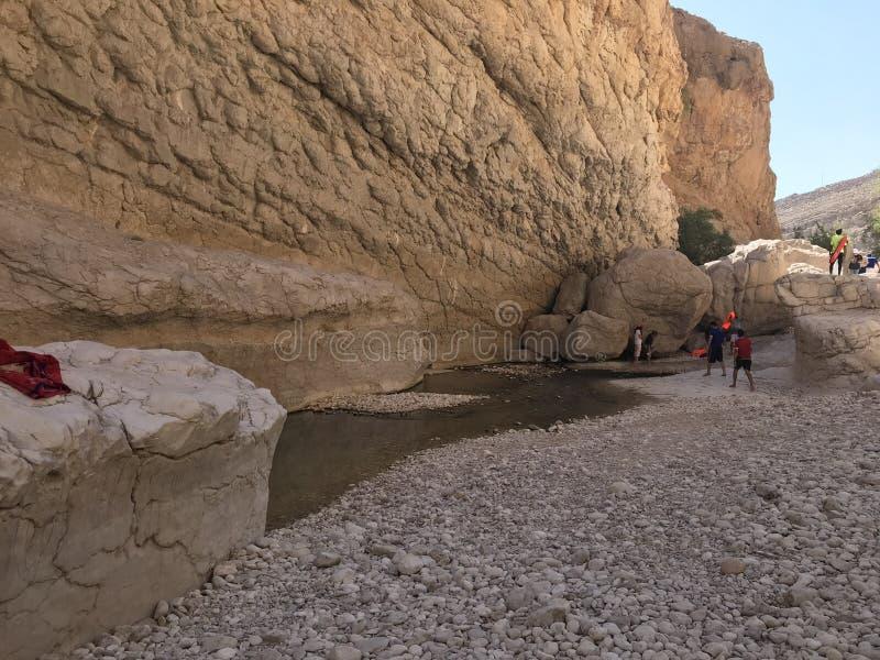 Bani Khalid do barranco, Omã foto de stock