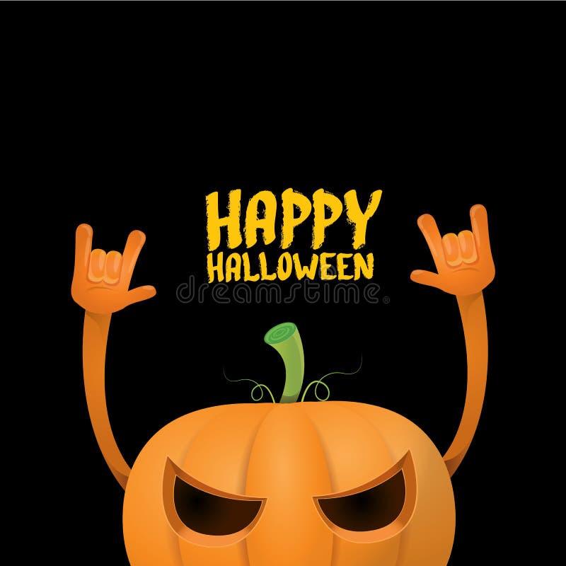 Bani n rolki stylu Halloween rockowy kartka z pozdrowieniami ilustracja wektor
