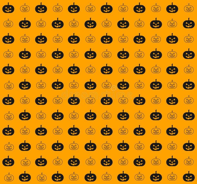 Bania, Halloween tła bezszwowy deseniowy illustrati ilustracja wektor