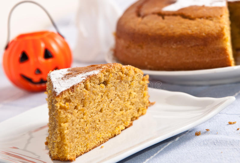 Bania tort dla Halloween zdjęcia stock
