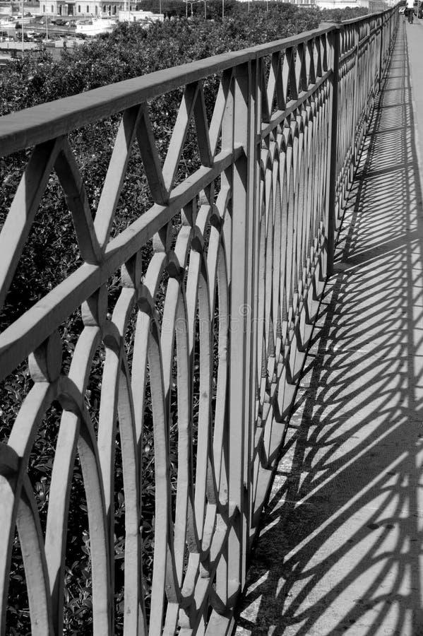banister w b zdjęcie royalty free