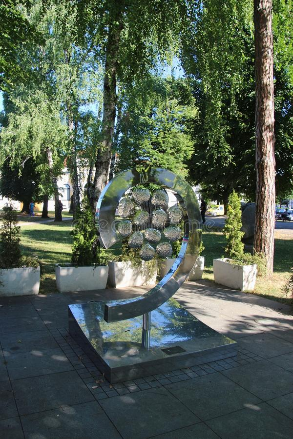 Park and memorial in the center of Banja Luka, Bosnia. stock photo