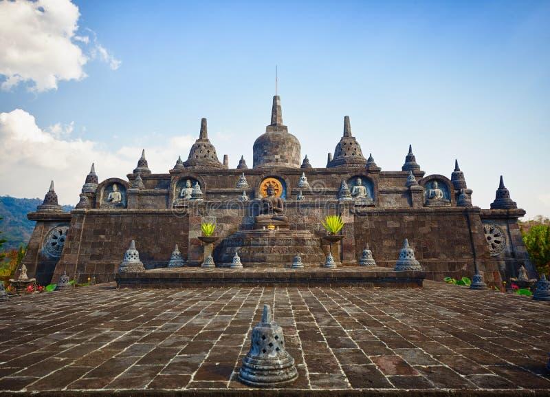 Banjar Buddist świątynia. Indonezja. zdjęcie stock