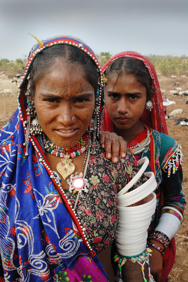 Banjara Frauen in Indien lizenzfreies stockfoto