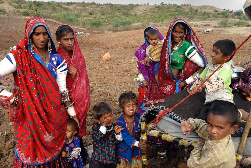 BANJARA STAMMEN IN INDIA stock afbeeldingen