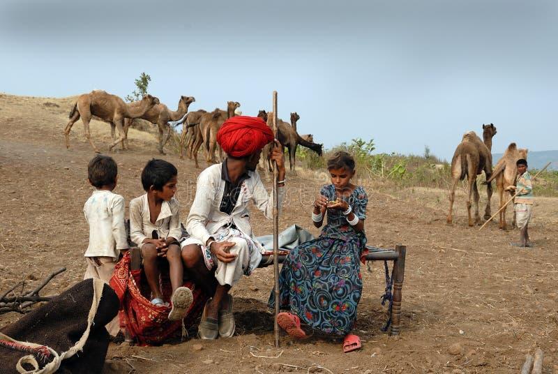 BANJARA STAMMEN IN INDIA royalty-vrije stock foto