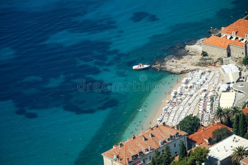 Banje-Strand in Dubrovnik lizenzfreies stockfoto