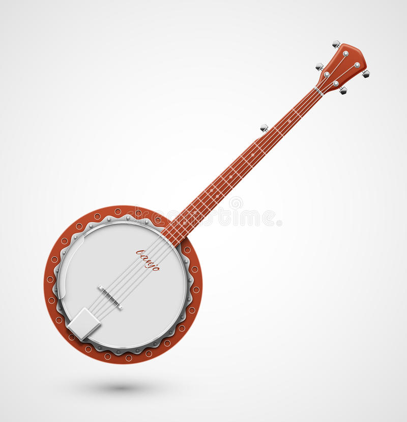 banjo ilustração royalty free