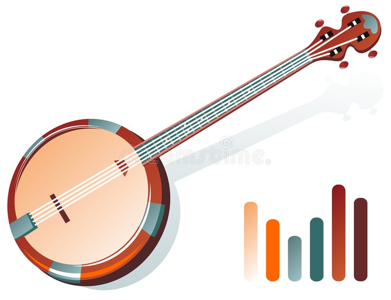 Download Banjo stock vector. Illustration of instrument, illustration - 7282782
