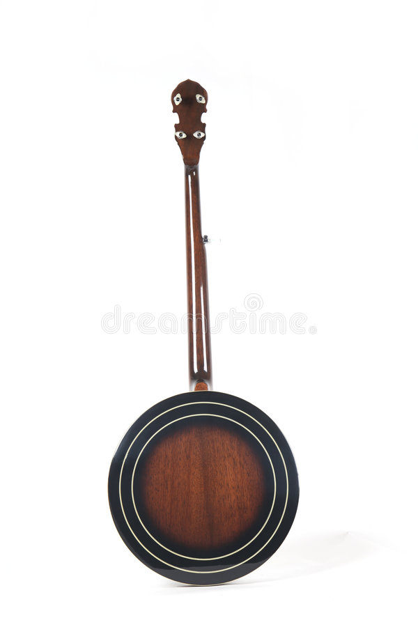 Free Banjo Back Isolated On A White Background Royalty Free Stock Photo - 8493945
