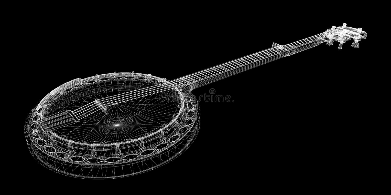 Banjo - corda 5 royalty illustrazione gratis