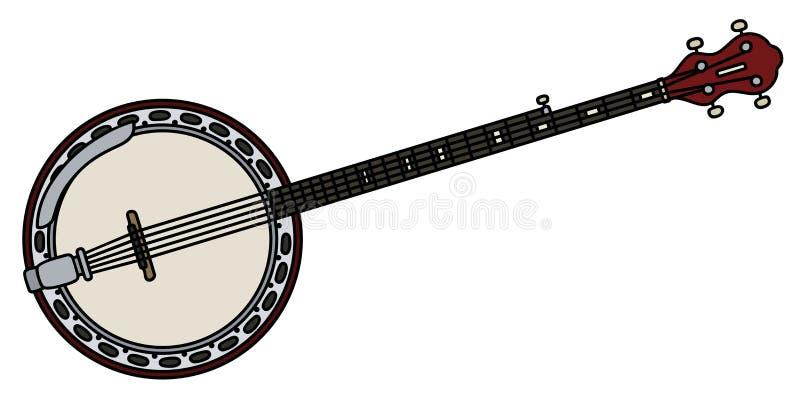 Banjo de cinco cordas ilustração do vetor