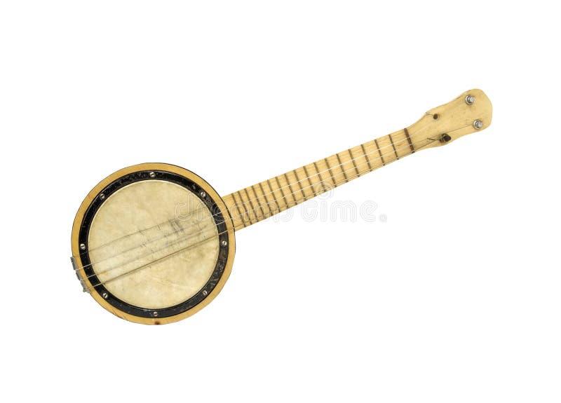 Banjo della corda dell'annata quattro immagine stock