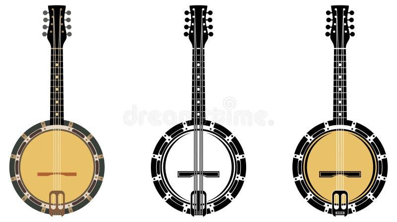 Banjo do instrumento musical ilustração stock