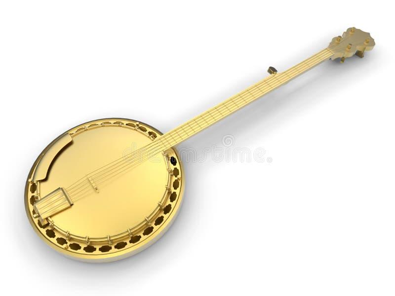 Banjo dourado ilustração royalty free