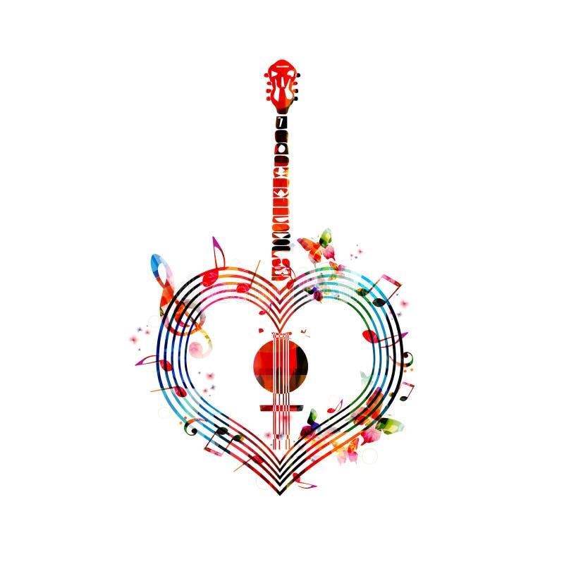 Banjo en forme de coeur illustration libre de droits
