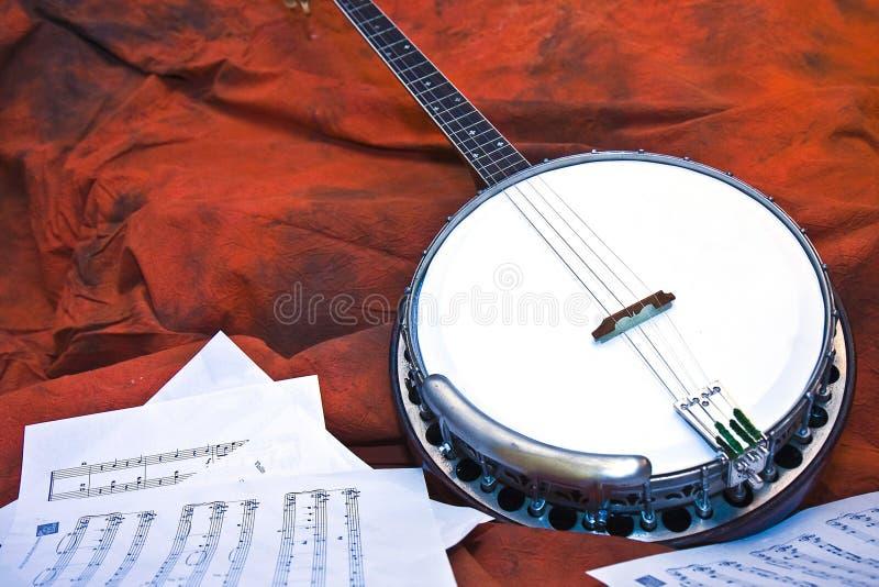 Banjo en Muziek stock afbeelding