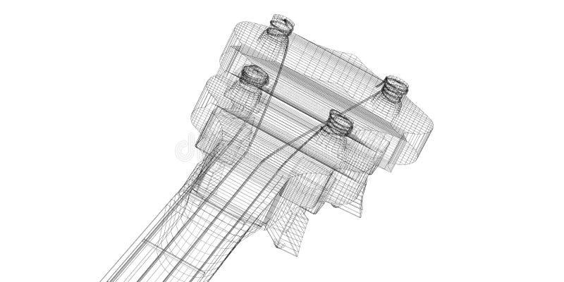 Banjo - ficelle 5 illustration de vecteur