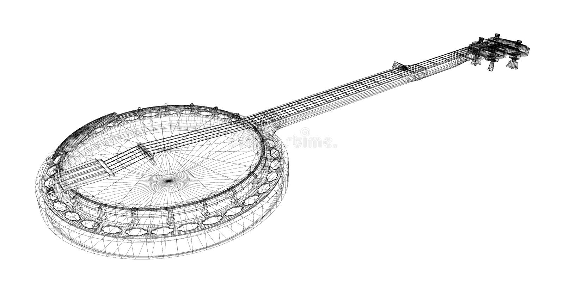 Banjo - ficelle 5 illustration stock