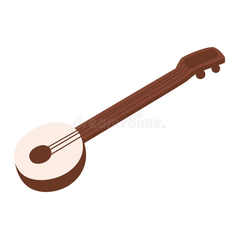 Banjo guitar vector illustration. vector illustration