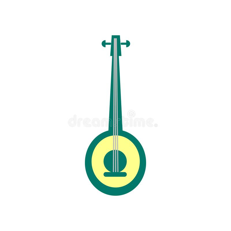 Banjo icon vector sign and symbol isolated on white background stock illustration