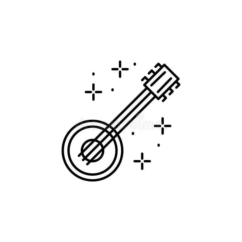 Banjo, icono musical Icono de elemento del festival de octubre libre illustration