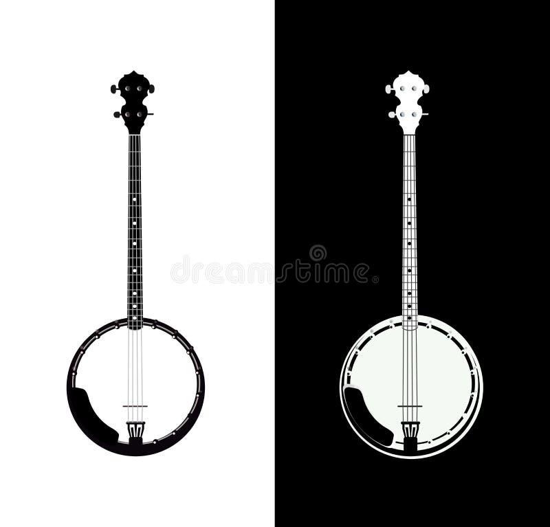 Banjo isolado ilustração stock
