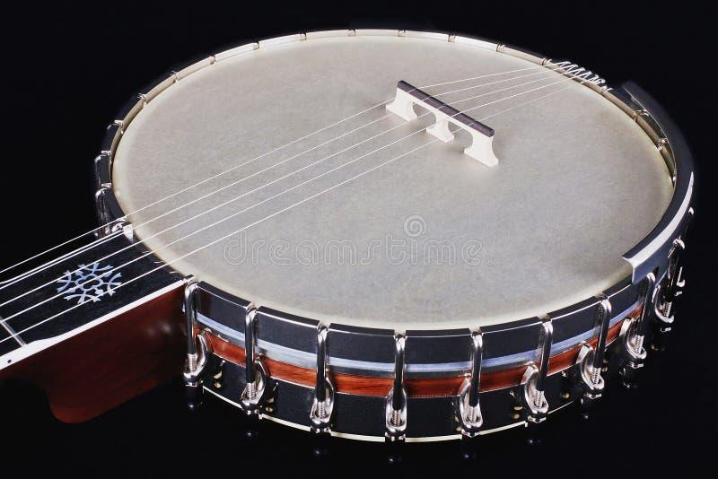 Banjo isolated on black background royalty free stock image