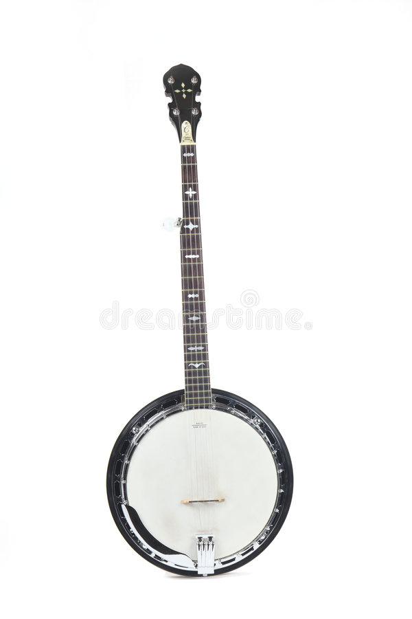 Free Banjo Isolated On A White Background Stock Photography - 8493882