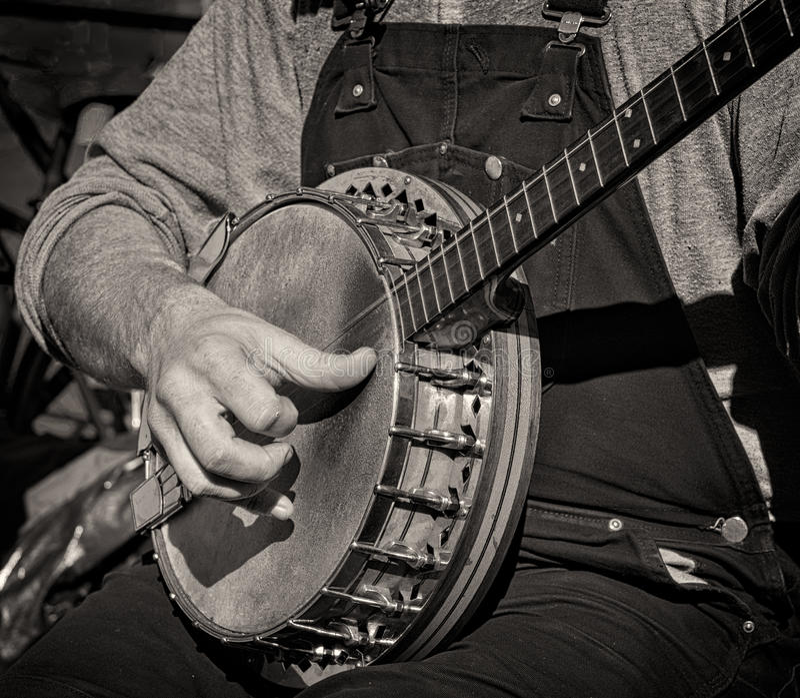 Banjo-Musik stockfotos