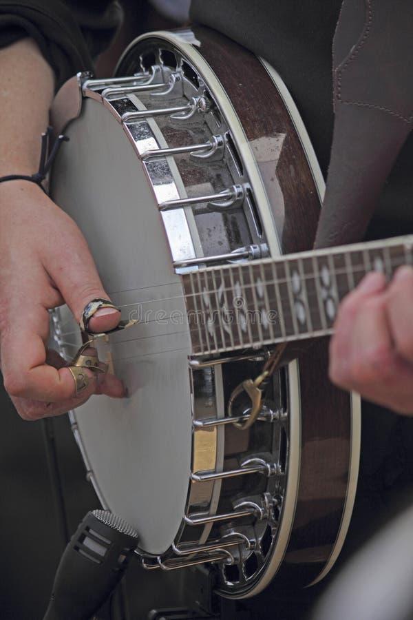 Banjo, strumento della corda immagini stock libere da diritti