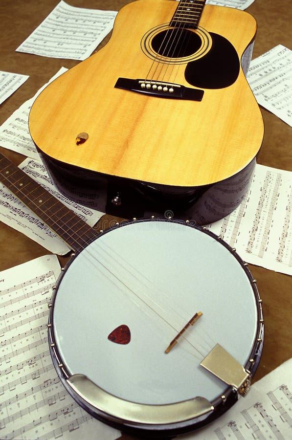 Banjo und Gitarre stockfotografie