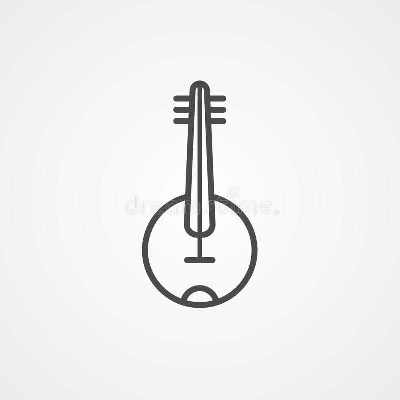 Banjo vector icon sign symbol stock illustration